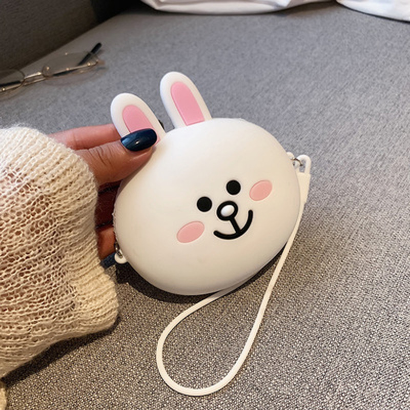 Kids Student Cartoon Portable Mini Coin Purse Wallet Headset Storage Bag HandBag