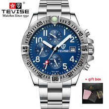 Tevise Men's Watches Fully Functional Automatic Mechanical Watches Top Brand Fashion Wristwatch For Male Watch Relogio Masculino ik for fully automatic mechanical watch multifunctional back through the gold fashion personality male table