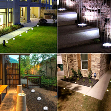 16 LEDs Ground Light Solar Powered Garden Landscape Lawn Lamp Buried Light Outdoor Road Stairs Decking light With light Sensor