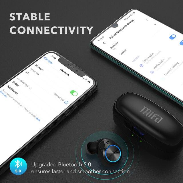 Mifa X5 True Wireles Stereo redukcja szumów słuchawki Bluetooth bezprzewodowe słuchawki douszne