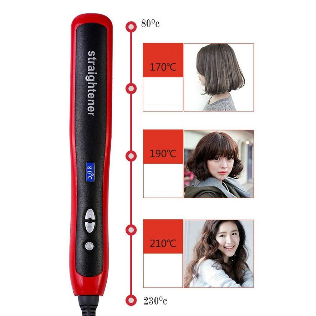 Hair Straight Styler Crystal Straight Hair Comb Hd Ceramic Straightening Splint Bangs Buckle Hair Curling Straight Hair Comb