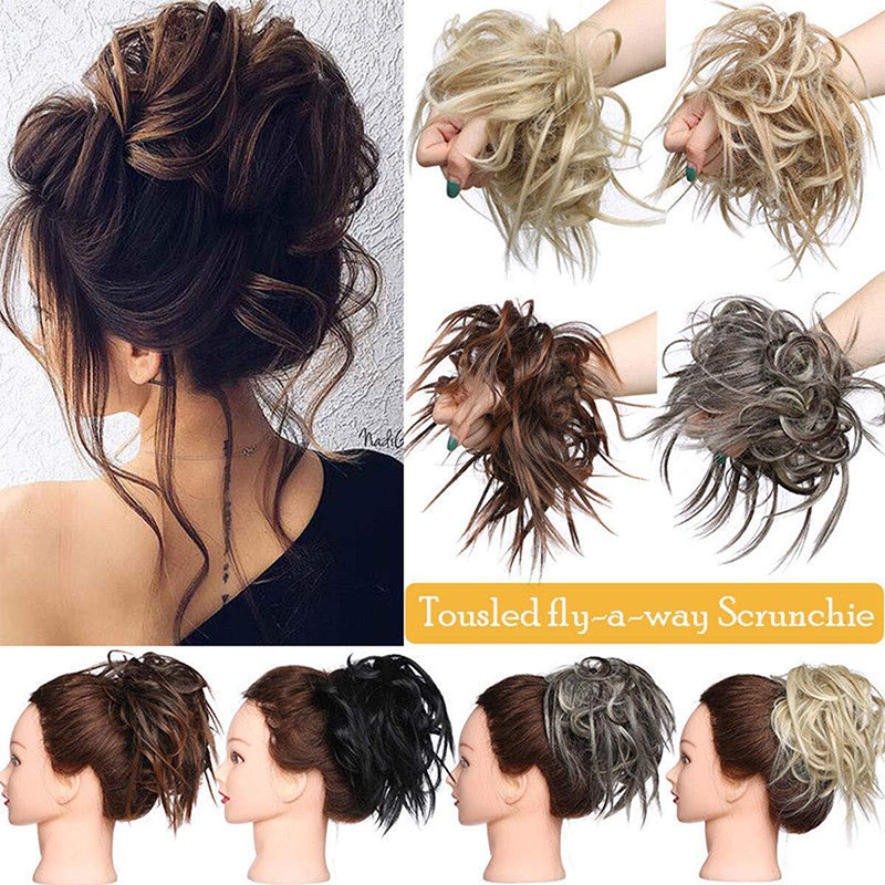 Hot Hair Extensions Wavy Curly Messy Hair Bun Extensions Donut Hair Chignons Hairpiece Headwear Hair Accessories
