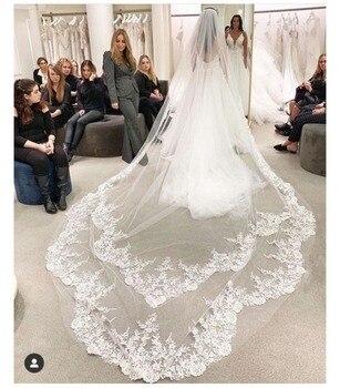 Wedding Veil  Width Comb Lace Mantilla Cathedral Bridal Accessories Veu De Noiva EE551 - discount item  5% OFF Wedding Accessories