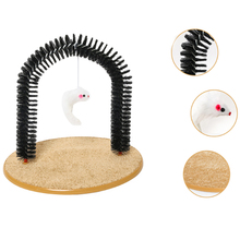 Pet Comb Cat Rub Brush Scratching Itch Maker Arched-Shaped Automatic Massage Itching Petting Post Supplies