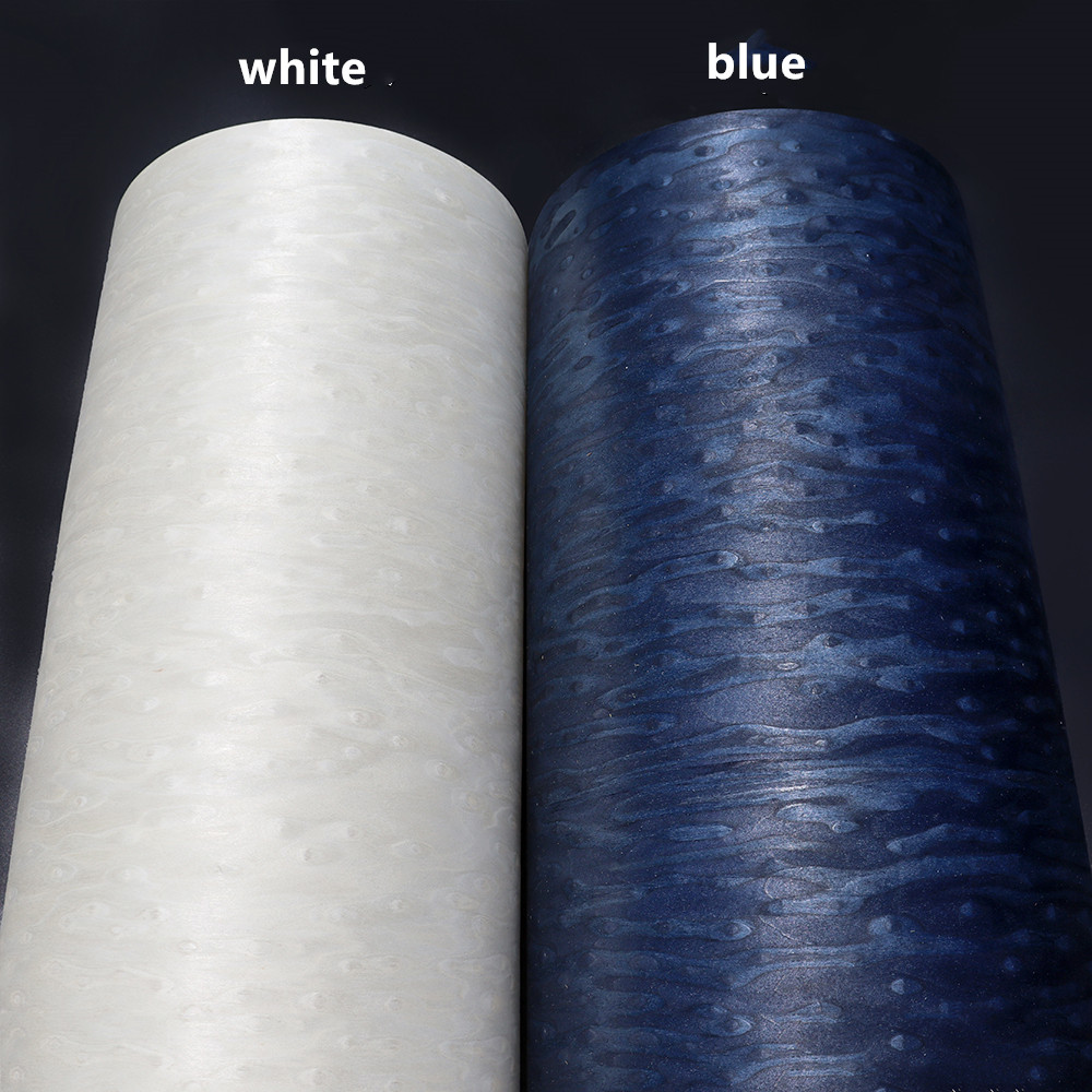 2x Artificial Technical Sparkling Blister Veneer Wood Engineering Veneer E.V. Tissue Backing White Blue Silver Gray Brown