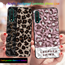 3D Luminous Case For huawei Honor 9A 30S 20 Pro 20i 10i 10 Lite 8X Glitter shockproof Cover For Honor View  V20 V30 Case Coque aurora luminous phone case for huawei honor view v30 v20 v10 night shine bcak cover for honor v30 dazzle colour glass case coque
