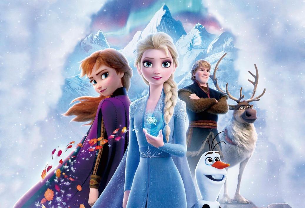 7x5ft New Frozen Palace Castle Anna Princess Queen Elsa Olaf Custom Photo Studio Background Backdrop Vinyl Banner 220cm X 150cm