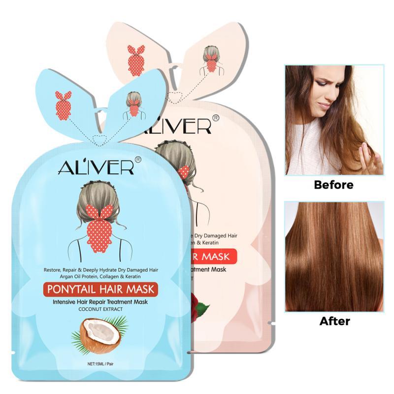 15ml Natural Hair The Tail Nursing Mask Deep Nourishment Hair Membrane Repair Hair Bifurcation Butter Cup Hair Treatment Mask