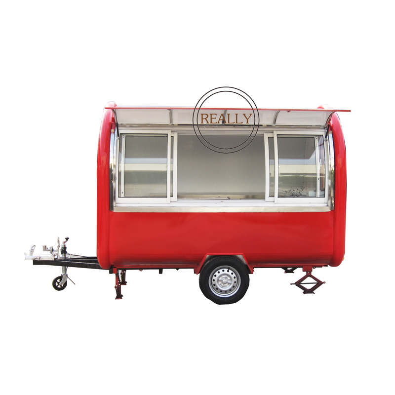 280cm Long Mobile Food Cart With Display Window Color Customize Mobile Food Cart Food Truck For Sale