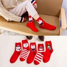 Лидер продаж 1 пара 2020 рождественские носки женские с изображением