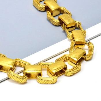 Statement Gold Metal Square Trend Bracelet 3
