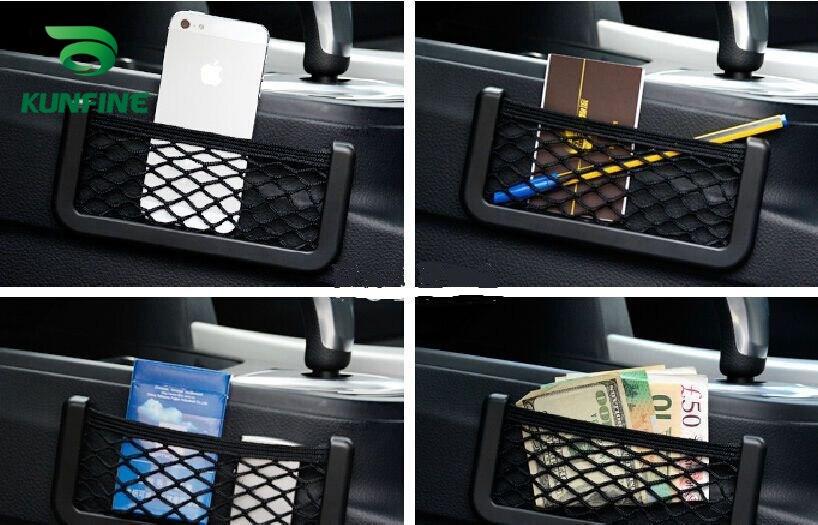 Car Multifunctional Phone Storage Net String Bag Phone Holder Ticket Pocket E