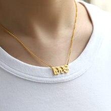Moda rok numer naszyjniki dla kobiet naszyjnik ze stali nierdzewnej rok 1998 1999 2000 prezent urodzinowy od 1985 do 2020 biżuteria Gif
