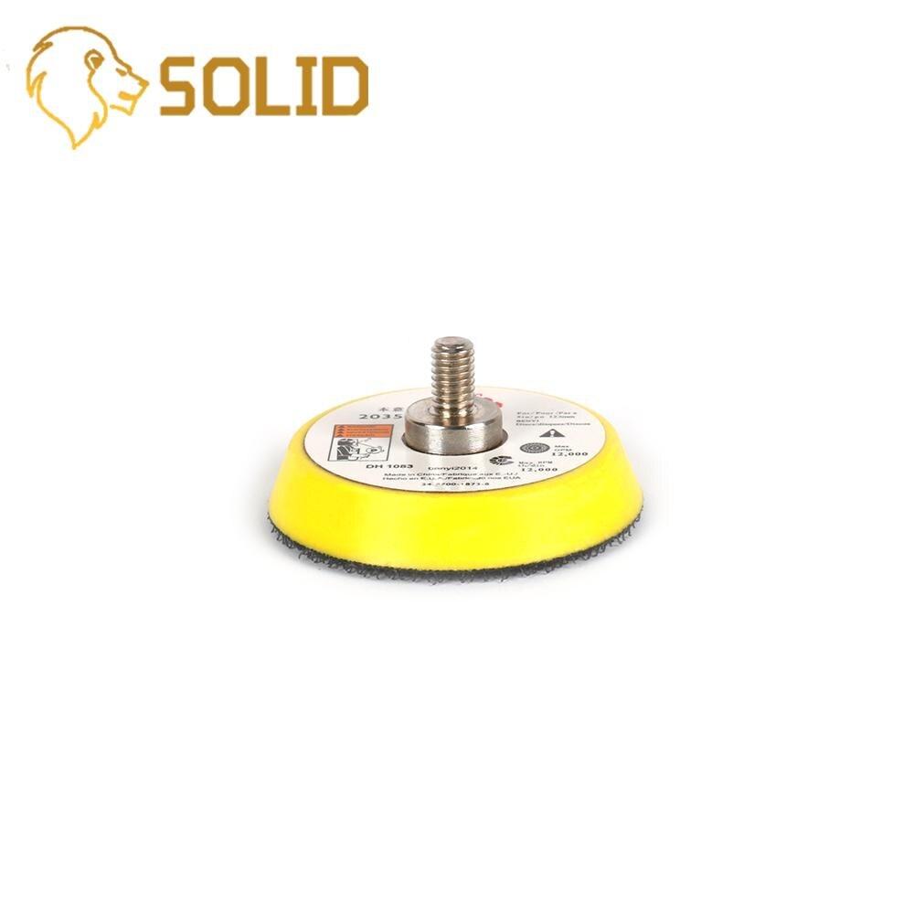50mm Pneumatic Backer Plate Pad For Car Polisher Dual Action Polishing Tool Hook & Loop Backer Pads 2Pcs