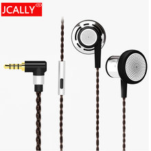 Jcally Newest jc10 In ear Earphone 3.5mm Flat Head Bio cellulose Earbuds HiFi Professional Earphones With Mic For iphone