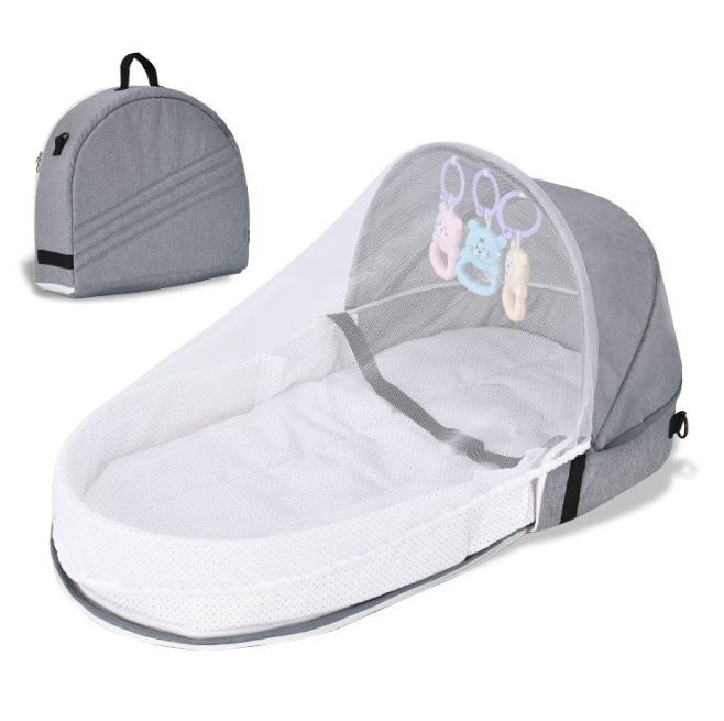 TIkTOK Kids Baby Bed Travel Sun Protection Mosquito Net With Portable Bassinet Baby Foldable Breathable Infant Sleeping Basket