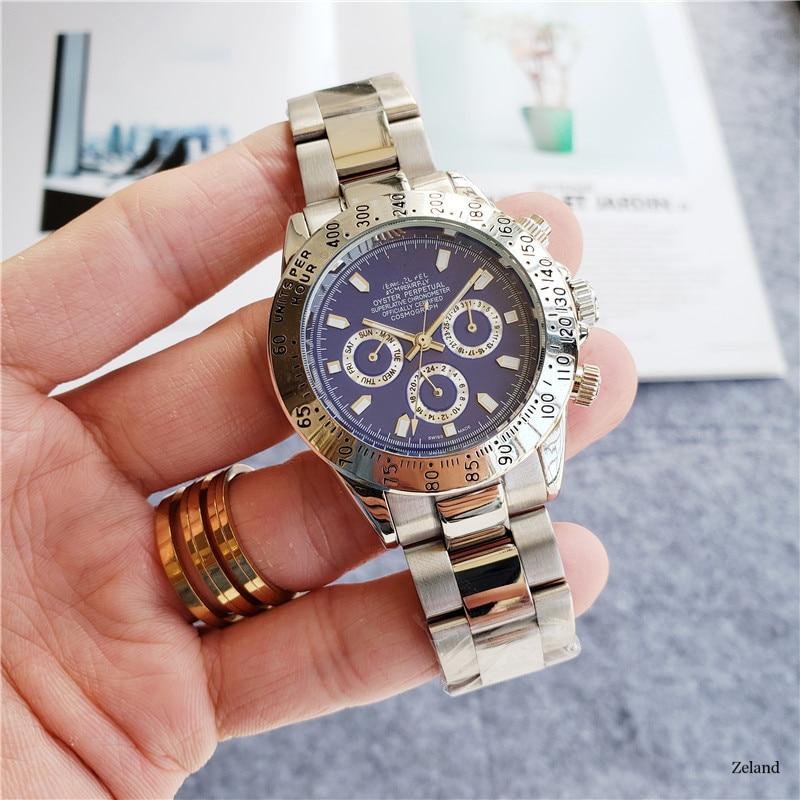 Automatic Mechanical Men's Watch Daytona Complication 6 Pin Waterproof Wrist Watch With Stainless Steel Strap Herrenuhr
