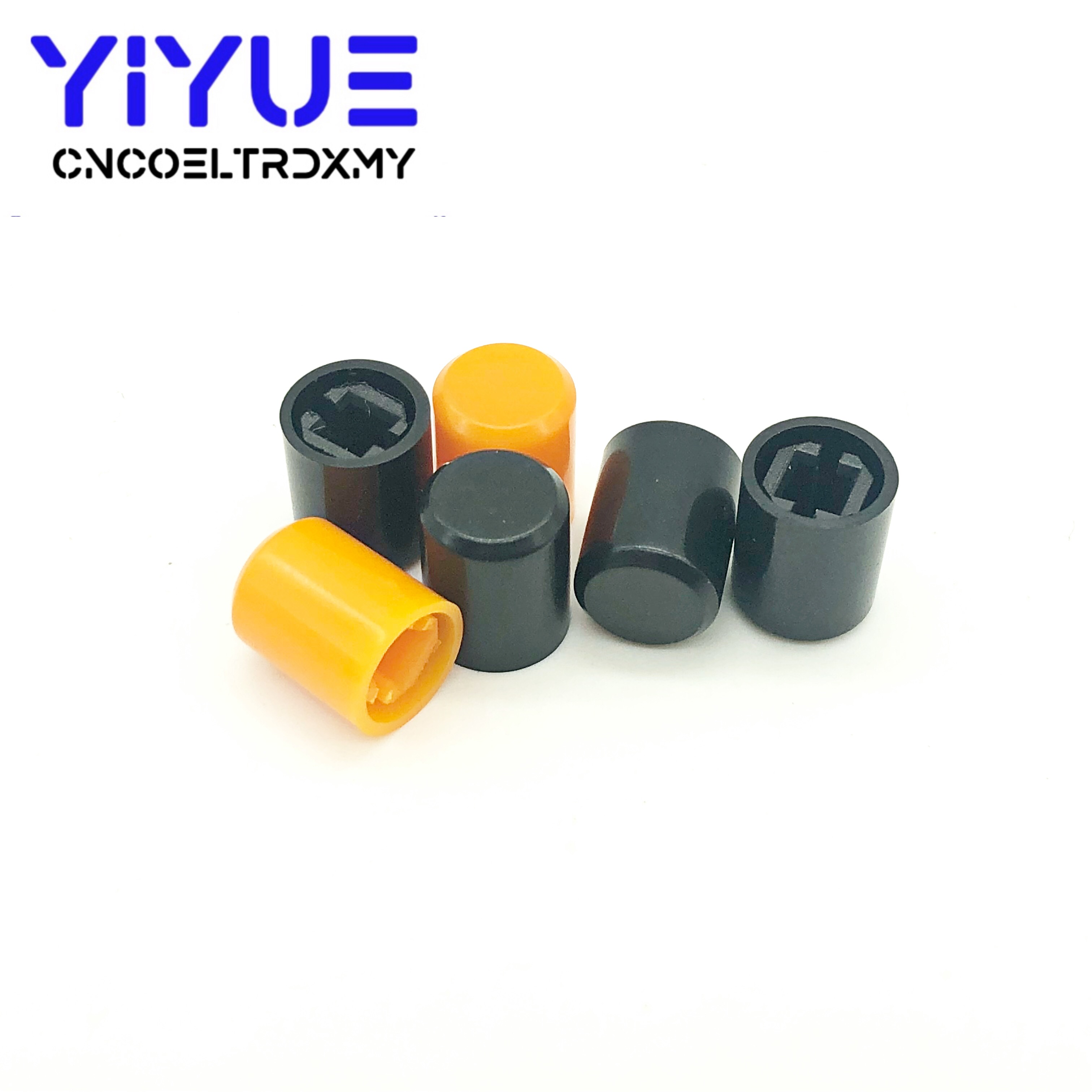 20Pcs Plastic Cap PS-22F03 Push Button Switch Lid Cover A03 A11 Direct Key Switch Cap For Button Switch High 10MM Orange Black