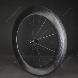 Image 4 - Time Trial Dimple ล้อ Aerodynamic ด้านหน้าและด้านหลัง 80 มม.2 ปี Clincher/ยางถนนจักรยานคาร์บอนล้อ 700C แผนที่จักรยาน