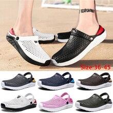 Unisexแฟชั่นชายหาดClogsรองเท้าแตะหนารองเท้ากันน้ำAnti Slipรองเท้าแตะFlip Flopsสำหรับผู้หญิงผู้ชาย