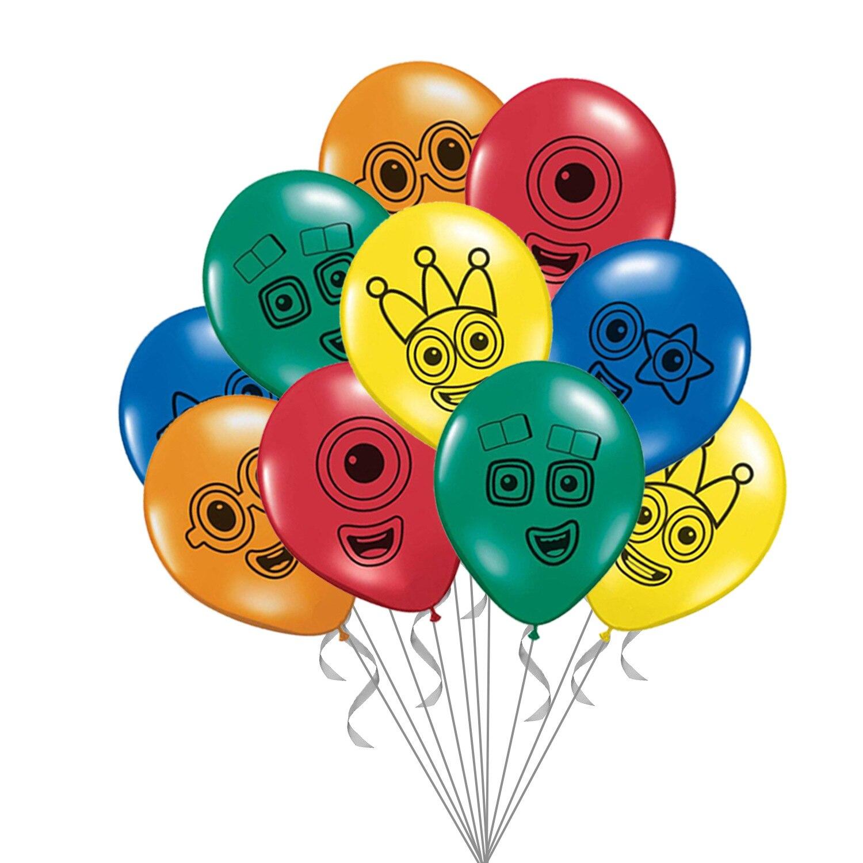 10 шт. Numberblocks шары 12 дюймов Количество блоков латексные шары Happy День рождения поставки мальчик девочка игрушка украшения Дети Globos