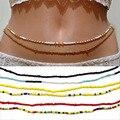 Двойные бусины для живота, цепи для талии, женское сексуальное пляжное бикини для тела, цепочка, подвески, винтажный пояс, богемные украшени...
