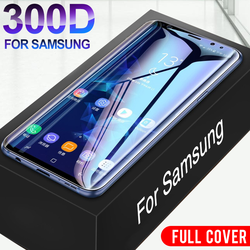 300D Protective Hydrogel Film On For Samsung Galaxy S8 S9 S10 Plus A50 Screen Protector On Galaxy S6 S7 Edge Note 8 9 Not Glass