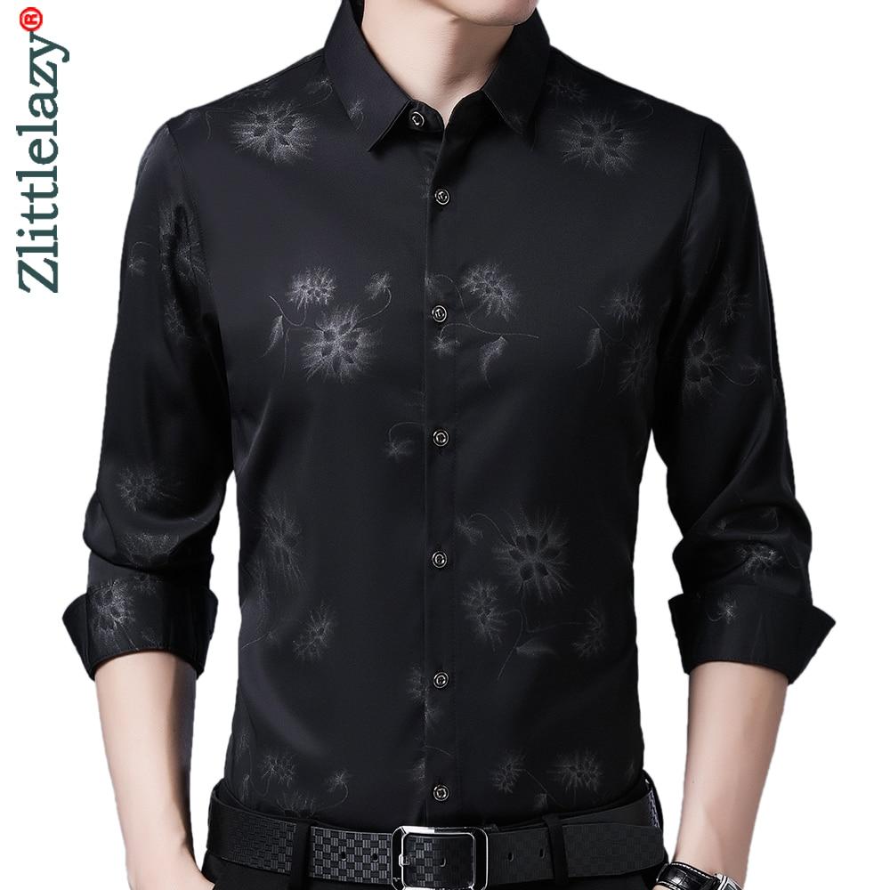 2020 Brand Long Sleeve Men Social Shirt Streetwear Casual Dandelion Shirts Dress Mens Slim Regular Fit Clothes Fashions 80503 1