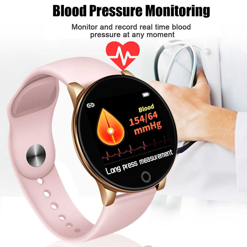 Wanita Kebugaran Smart Watch Wanita Running Reloj Monitor Detak Jantung Bluetooth Pedometer Touch Cerdas Olahraga Watch untuk Menjalankan