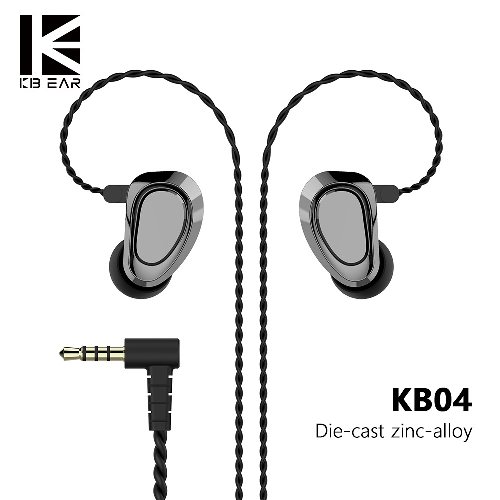 AK KBEAR KB04 1BA+1DD Hybrid Drivers In Ear Earphone HIFI DJ Monitor Earphone Earbuds With 2PIN Cable Metal Earbud KBEAR KB04/10