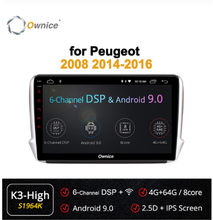 Ownice 2din 360 ° Panorama Kamera Wifi 4G Android 9.0 4GB + 64GB DSP Carplay Mobil Player forpeugeot 2008 208 2014-2018 GPS Radio(China)