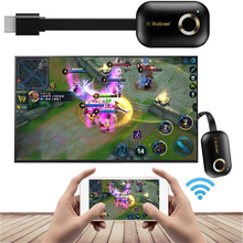 2.4G או 5G HDMI אלחוטי WiFi תצוגת וידאו מתאם HDTV מקל יצוק קישור שיקוף עבור iPhone iOS אנדרואיד טלפון כדי טלוויזיה מקרן