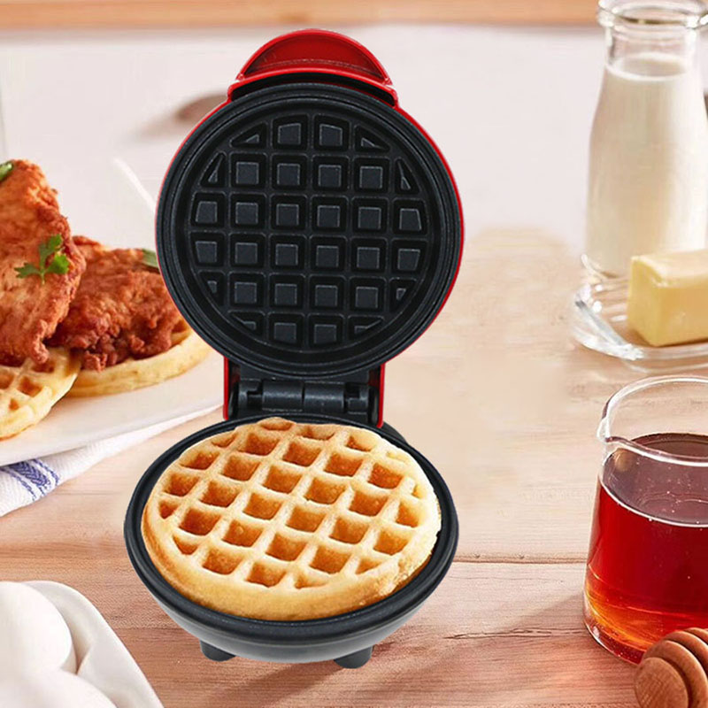 Electric Waffles Maker Heart Shape Waffle Egg Cake Oven Pancake Non-Stick Baking Pan Breakfast Machine Muffin Sandwich Iron EU P