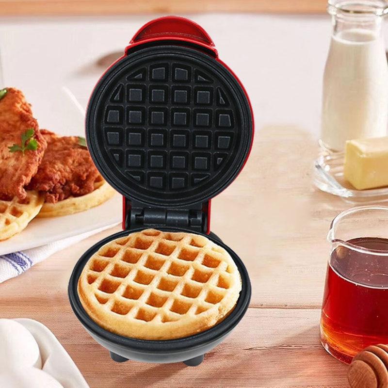 Electric Waffles Maker Heart Shape Waffle Egg Cake Oven Pancake Non-Stick Baking Pan Breakfast Machine Muffin Sandwich Iron EU P
