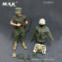1/6 Scale Military Soldiers WWII US Marine Corps Browning Automatic Rifle (BAR) Gunner Set Fit 12Doll Soldier Figure