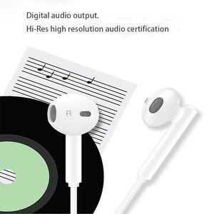 Image 5 - 오리지널 화웨이 cm33 이어폰 usb 타입 c 이어폰 헤드셋 마이크 볼륨 화웨이 메이트 10 20 pro 20 x rs p 10 20 30 참고 10