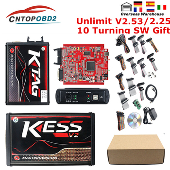 KESS V2 V5.017 EU Red Kess V2.53 ECU Chip Tuning Tool KTAG V2.25 V7.020 Online Master ECM Titanium ECU Programmer LED BDM Frame