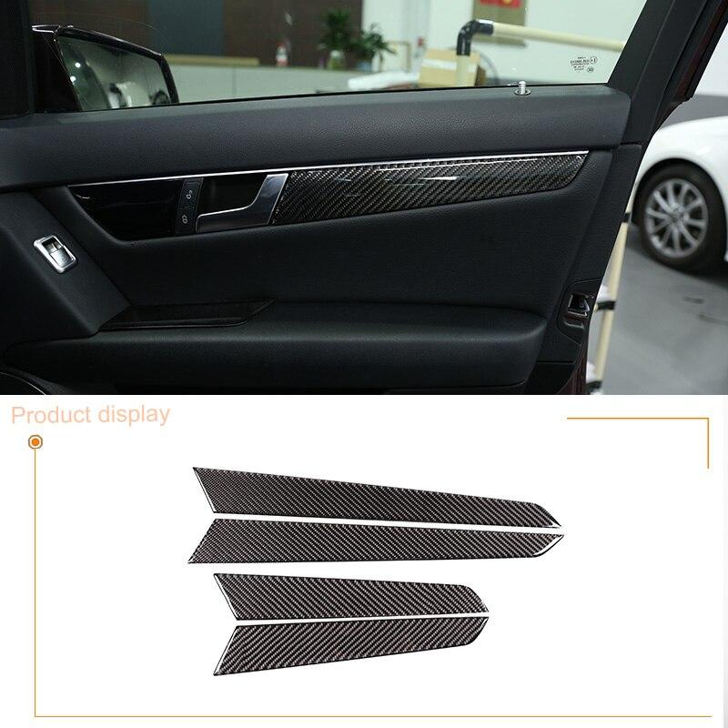 Senyar 2Pcs Door Speaker Trim,ABS Chrome Plating Car Interior Door Speaker Cover Frame Trim for C-Class W204 2008-2014