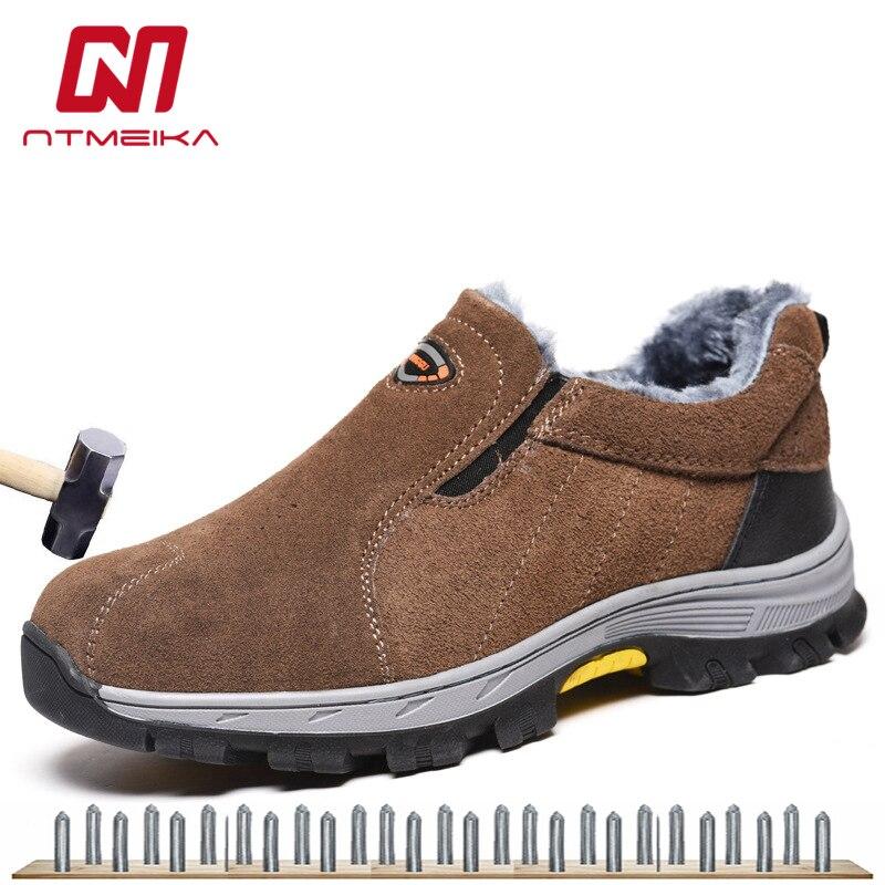 Ayakk.'ten Çalışma ve Güvenlik Botları'de Kış güvenlik ayakkabıları erkekler için güvenlik botları çelik burun Güvenlik Ayakkabıları Kayma Dayanıklı ve Elektrik Tehlikesi iş çizmeleri'da  Grup 1