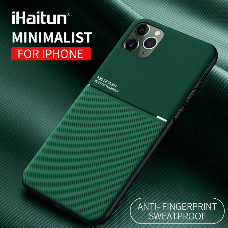 IHaitun Luxury Case For IPhone 11 Pro Max Cases IOS Design Business Back Cover For IPhone 11 XS MAX XR X 7 8 Plus 6 Phone Shell