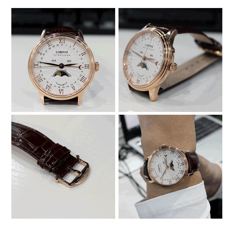 Hc7718c2eea954dbdb1ae818d970105e84 Switzerland LOBINNI Men Luxury Brand Quartz Watch Men Sapphire Waterproof Moon Phase Japan Quartz Movement Male Wristwacth