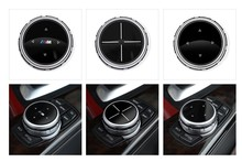 Car Multimedia Buttons Cover iDrive Stickers for BMW 1 2 3 5 7 Series X1 X3 F25 X5 F15 X6 16 F30 F10 F07 E90 F11 M logo car steering wheel 3d stainless steel car stickers modified for bmw e90 f30 f10 f20 x1 x3 x5 x6 x5 new 3 series 320gt5 series