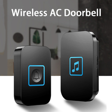 CACAZI Intelligent Wireless Waterproof Doorbell 2 Button 1 2 Receiver US EUK UK