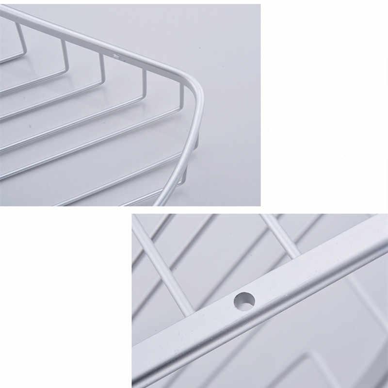 Étagère murale en aluminium | Rangement des toilettes, triangle mural, salle de bain, salle de douche, salle de douche, poinçonnage gratuit