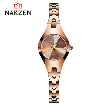 NAKZEN Luxury Ladies Watch Life Waterproof Quartz Clock Montre Femme Gifts for Women Rose Gold Watch Relojes De Mujer Wristwatch new longbo luxury brand women watch gold ceramic bracelet lady quartz watch waterproof ladies clock relojes mujer montre femme