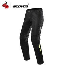SCOYCO мотоциклетные брюки Мужские штаны для мотокросса летние дышащие Панталоны мото брюки для верховой езды мото штаны с защитное снаряжение для коленей
