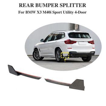 Car rear Bumper Lip Spoiler Splitters Side Aprons For BMW X3 M-SPORT 2018+