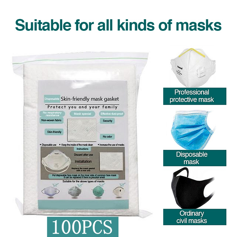 100/200/300Pcs Face Mask Filter Pad Anti Influenza Pollution Dustproof Breathing Safety Mouth Caps Suitable For KF94 N95 KN95