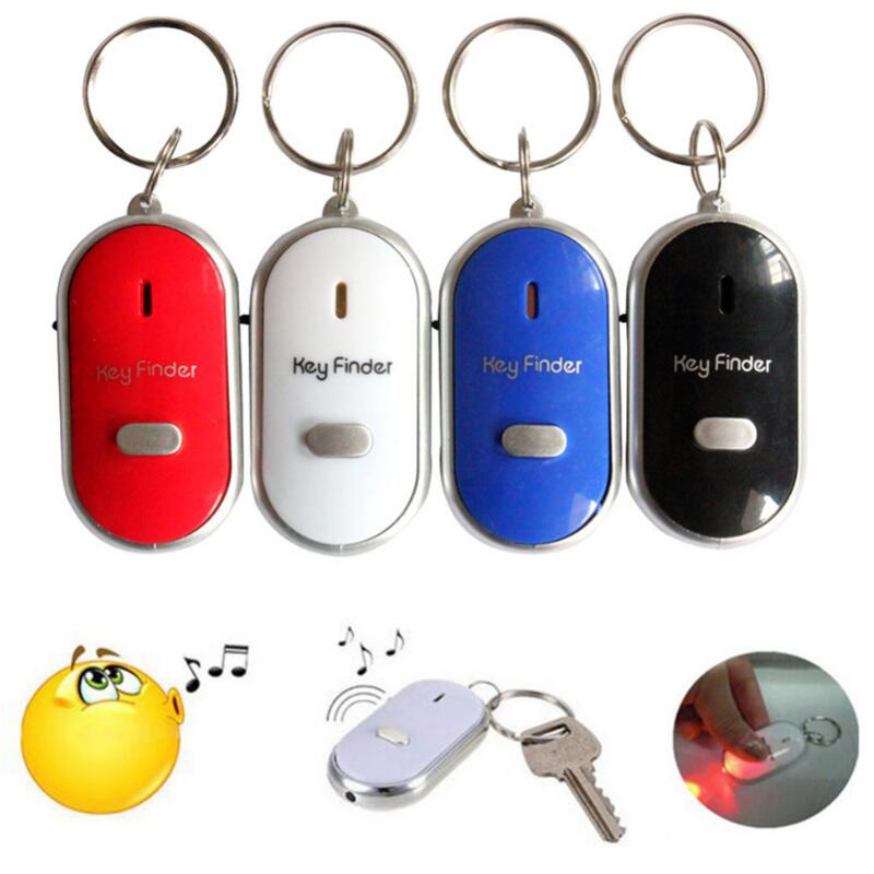 New Anti-Lost Alarm Key Finder Locator Keychain Whistle Sound  Control Alarm With LED Light Mini Anti Lost Key Finder Sensor HOT