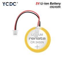 Nowa oryginalna bateria CR2450 CR2450N z lutowanym wtyk pinowy drut bonders CR 2450 3V dla AFPX BATT FP X seria PLC baterie